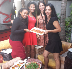 November 12, 2014-Angela Armenakis,Mariam Ghaly,Cristiane Roget, Sublette Hernandez_Organizing Red Dot Fair Gala with ArtBasil.